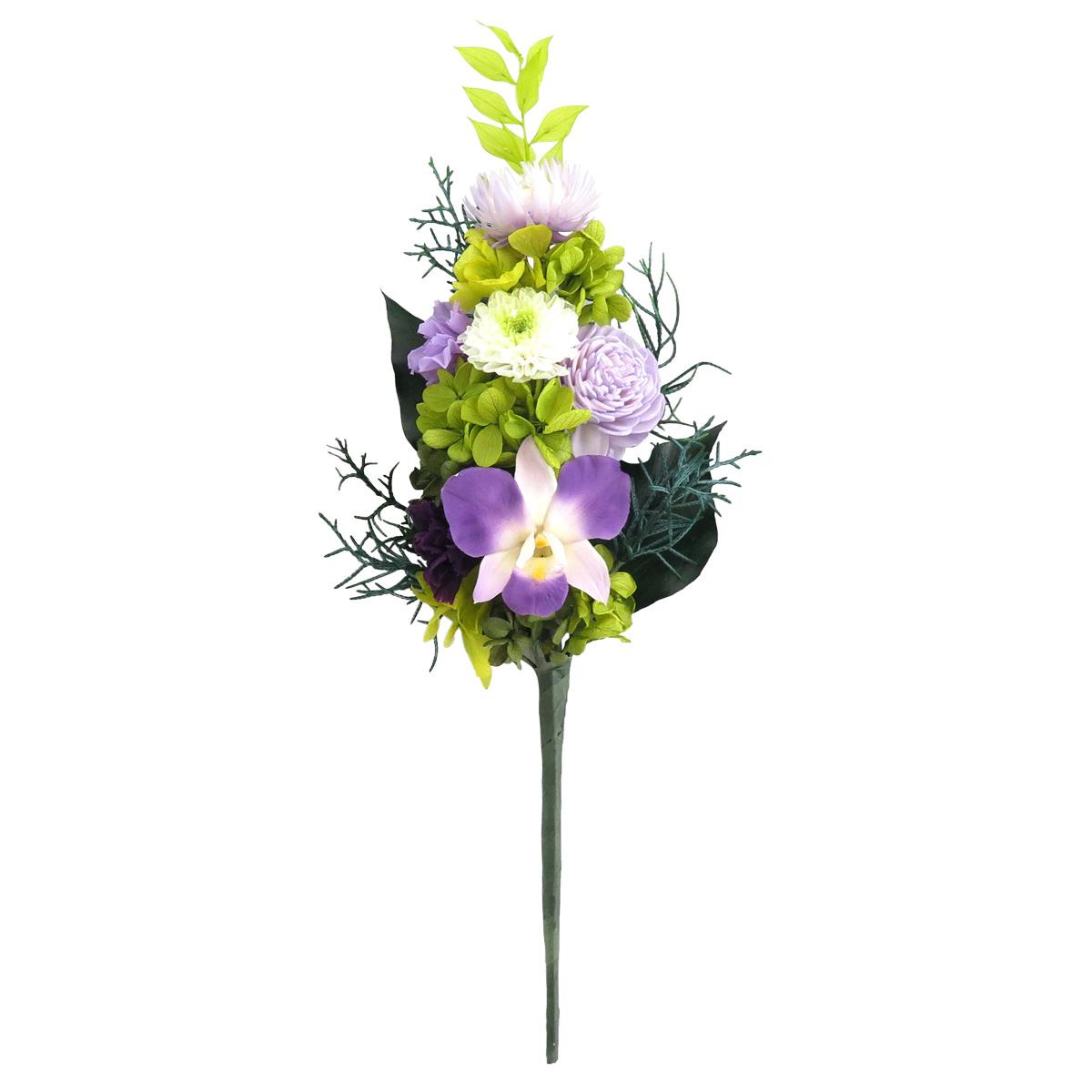 プリザーブドフラワー「蘭」 花のみ Lサイズ