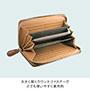 牛革クロコ型押しラウンド財布